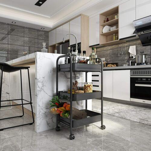 Rolling Cart With Wheel Rolling Cart Bathroom Bedroom Kitchen Organizer 3 Tiers