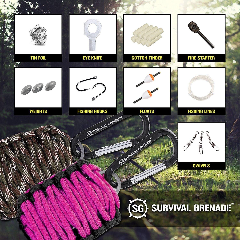Survival Kit - Survival GRENADE Emergency Key Chain Survival