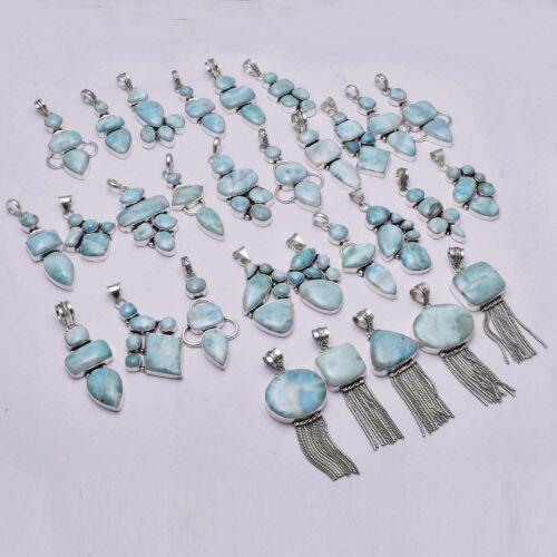 Larimar 30 Pcs Wholesale Lot Jewelry Antique Design Pandant Lot-1588