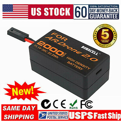 2000mAh 11.1V Replacement Battery For Parrot AR 2.0 Drone 2.0 Lithium-Polymer UB
