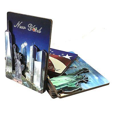 Set Of 6 New York Nyc Souvenir 3D Fridge Magnets Statue Of Liberty Brooklyn