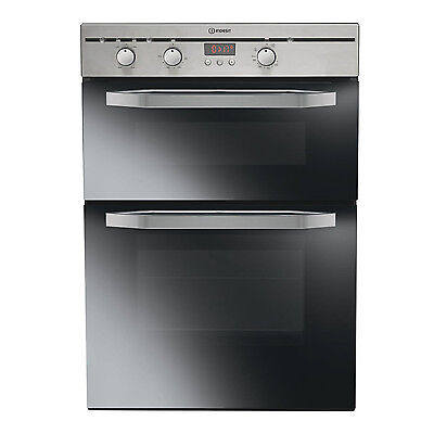 Indesit DIMDN13IXS Built In Double Oven - Stainless Steel