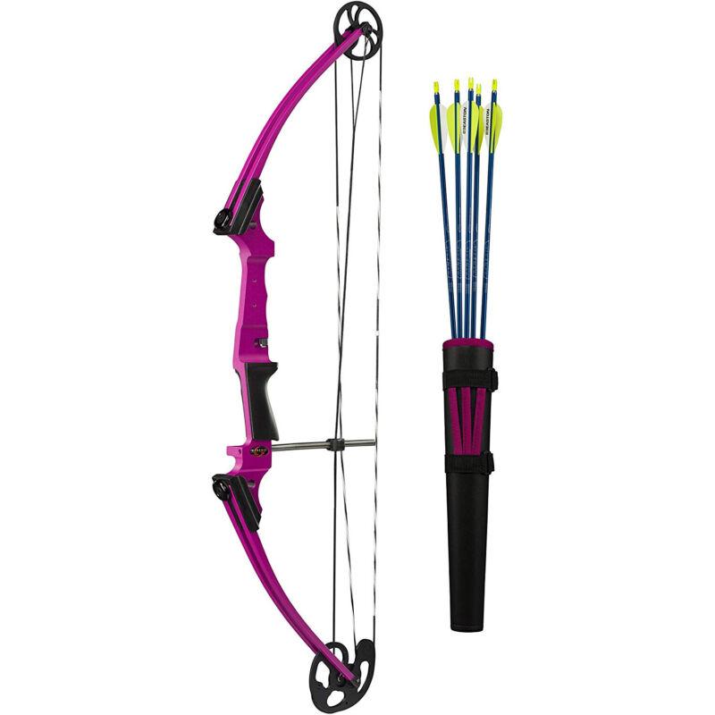 Genesis Archery 10932 Purple Original Compound Target Bow Kit, Right Handed
