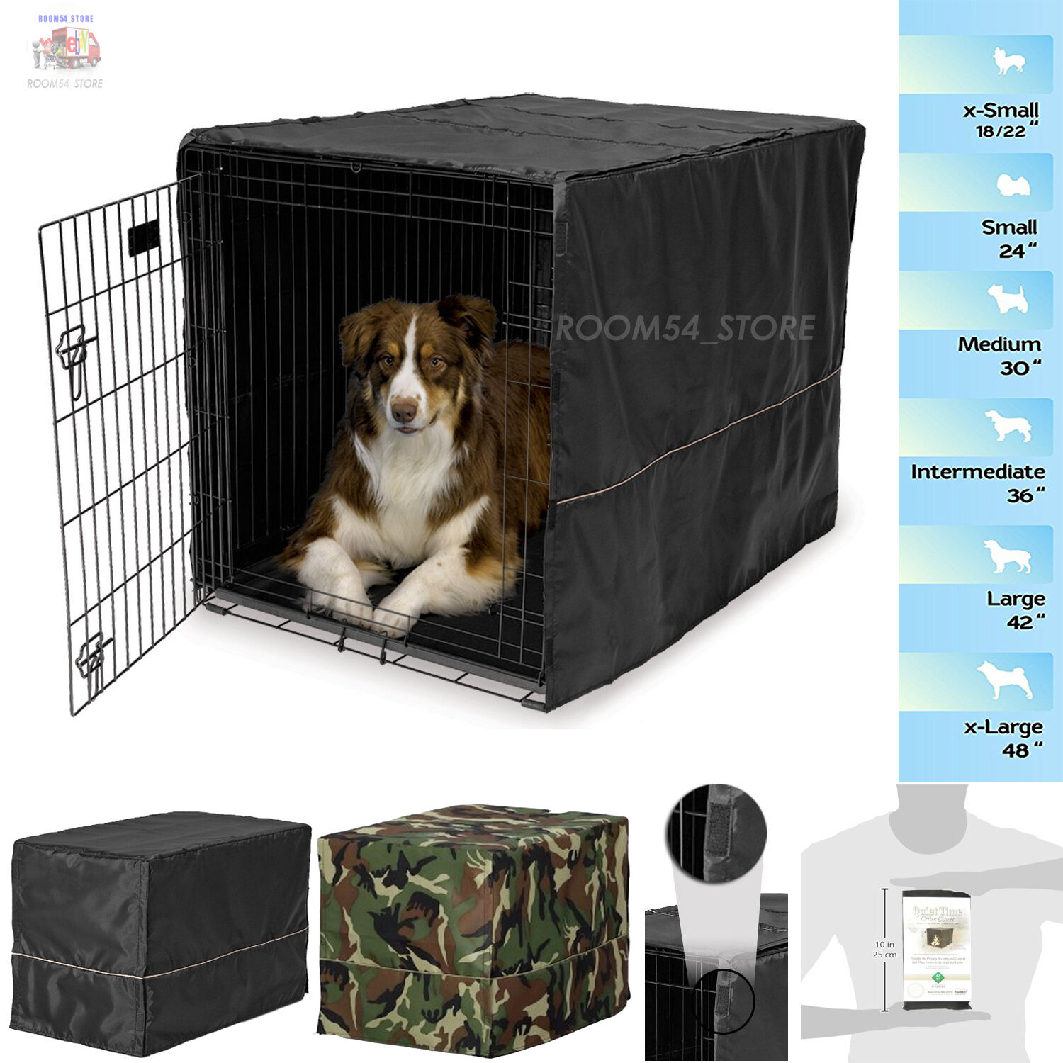 Dog Wire Crate Kennel Cover 100%Polyester For Small Extra La