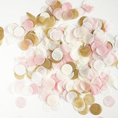 Pink and Gold Tissue Paper Circle Confetti Party Decoration Wedding Shower Favor - Paper Confetti