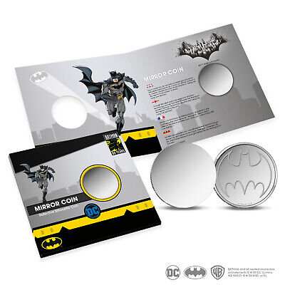 Batman 80 years create your own Bat-signal mirror/reflective silhouette coin