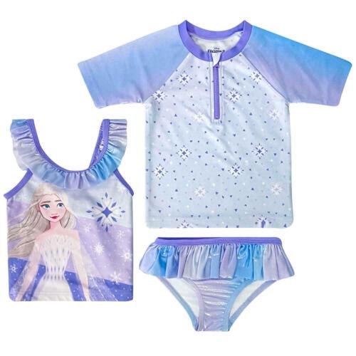 NWT Toddler Girls DISNEY FROZEN 3 Piece Swim Set Size 2T