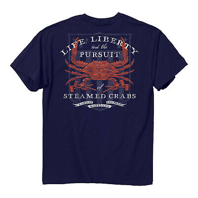 Maryland Life, Liberty, and the Pursuit of Steamed Crabs T-Shirt - NEW! ()