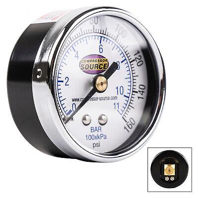 Quality 0-160 Psi Air Pressure Gauge 14 Npt Center Back Mount Cbm 2 Face