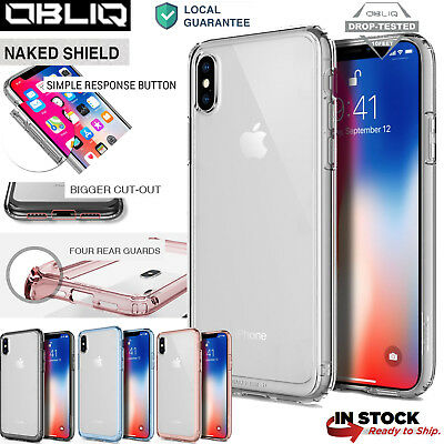 OBLIQ® iPhone X,iPhone 10 [Naked Shield] Clear Case Shock Proof Bumper Slim