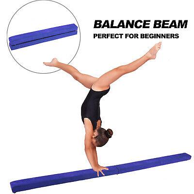 8FT Folding Balance Beam Skill Performance Training Gymnastics Floor Home USA