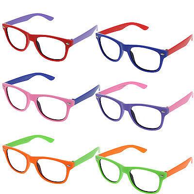 Small KIDS SIZE Retro Frame Clear Lens Glasses NERD Classic Costume Boys Girls