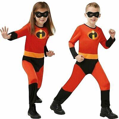 Incredibles 2 Kinder Jungen Mädchen Kostüm Disney Film Party Superheld Kostüm