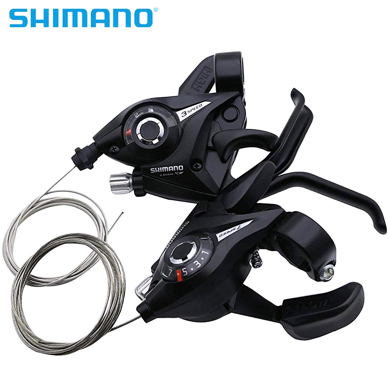 1 Pair V-Brake Front V-Brake 21 Speed 3x7 Shifter//Brake Lever Shimano ST-EF51