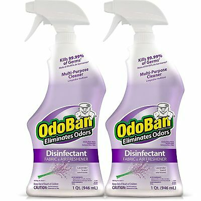 Scent Eliminator Spray Liquid - 2 pack | OdoBan | Odor Eliminator & Disinfectant Spray | Lavender Scent | 32oz