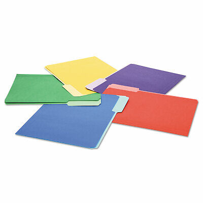 Universal File Folders 13 Cut Single-ply Top Tab Letter Assorted 100box 10506