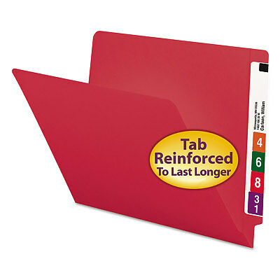 Smead Colored File Folders Straight Cut Reinforced End Tab Letter Red 100box