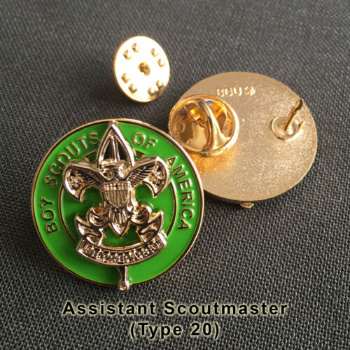 Assistant Scoutmaster Position Insignia, One Pair (2) (Scout Scouter Boy Pin)