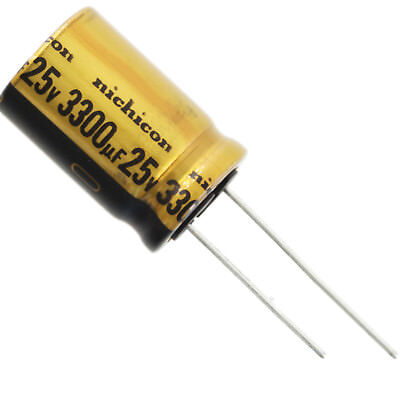 Nichicon Ufw Audio Grade Electrolytic Capacitor 3300uf 25v 20 Tolerance