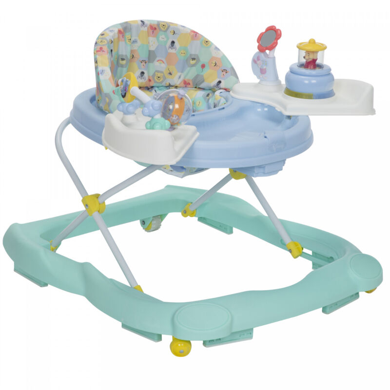 BABY MUSICAL WALKER TODDLER ACTIVITY TRAY INFANT BOUNCER WITH TOYS AND LIGHTS