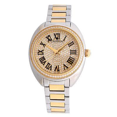 Croton Women's CN207564TTYL Quartz Crystal Accents Two-Tone Bracelet 37mm Watch