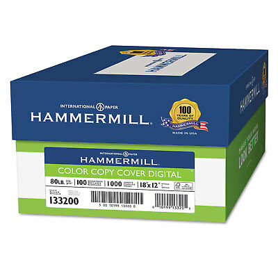 Hammermill Copier Digital Cover Stock 80 Lbs. 18 X 12 Photo White 1000