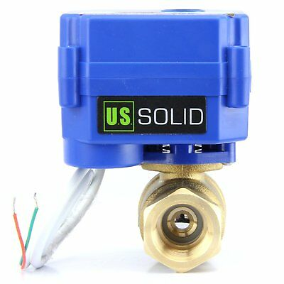 1 Brass Motorized Ball Valve 9v 12v To 24v Electrical Valve 2 Wire Auto Return