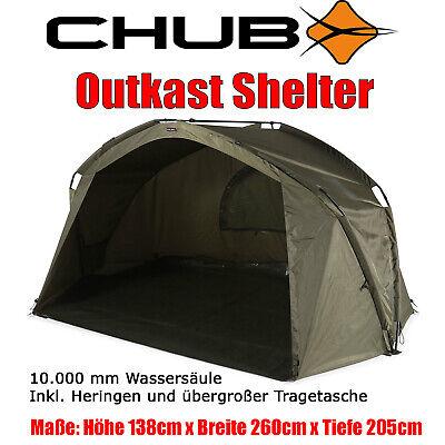 Chub Outkast Shelter - Angelzelt Karpfenzelt Wetterschutz 10.000er Wassersäule