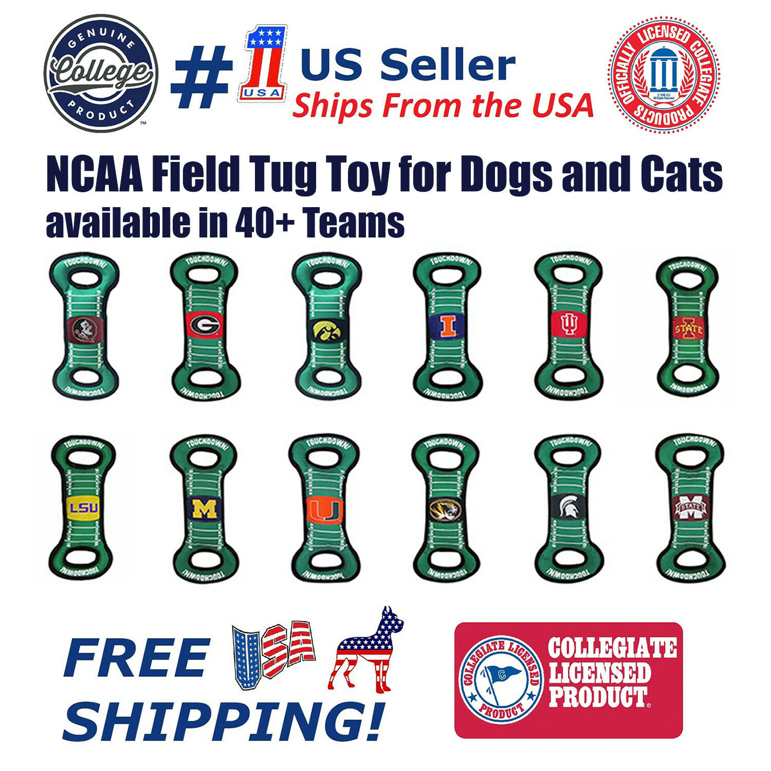 ncaa football field toy for dogs