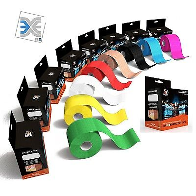 1 2 Rolls Precut Kinesiology Sports Elastic Tape Muscle Pain Care Therapeutic