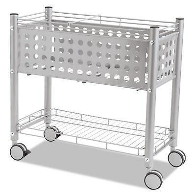 Vertiflex Smartworx File Cart One-Shelf 28 1/4w x 13 3/4d x 27 3/8h Matte Gray