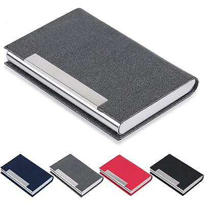 Business Card Holder Junelsy Business Card Case Luxury Pu Leather And Stainless