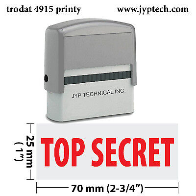 Confidential Ink Stamp - Top Secret - Extra Large Trodat 4915 Self Inking Rubber Stamp