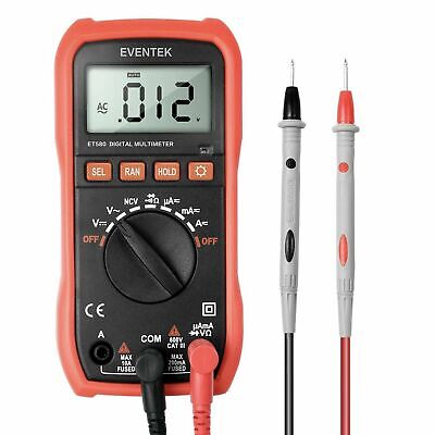 Digital Multimeter Eventek Et580 Lcd Auto Ranging Multi Meter Amp Ohm Volt Ac