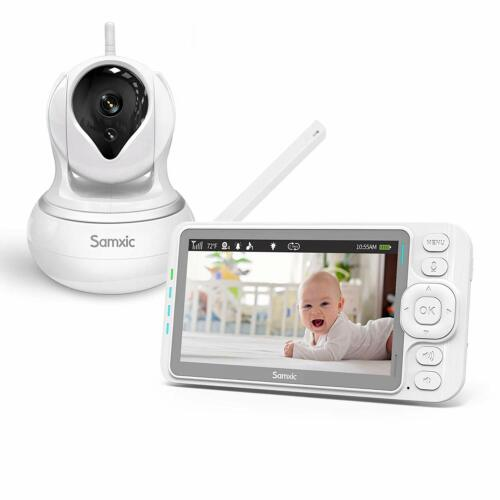 Video Baby Monitor with 720P Camera, 5 Inches Display, Crying & Temperature Aler