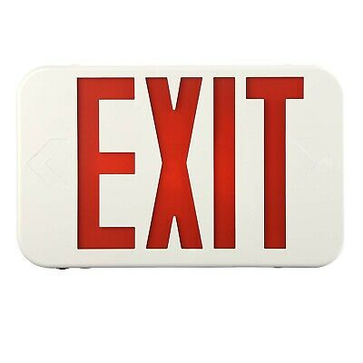 1pc Led Exit Sign Emergency Light Red Exit Sign Battery Compact Combo Ul924