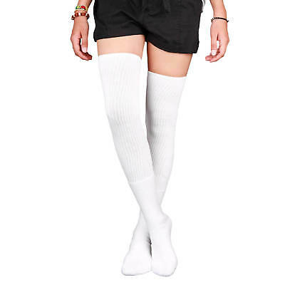 Skatersocks Overknees Oldschool Women's Knee Socks Tube Socks 35 Inch White ()