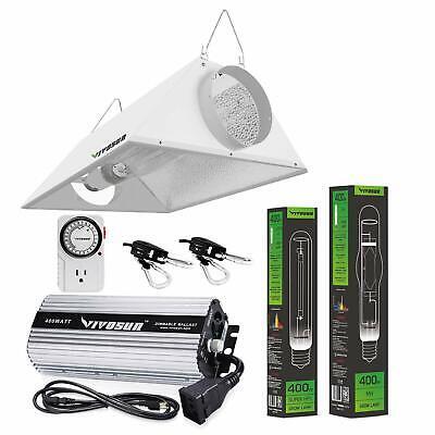 VIVOSUN 400w Watt Grow Light Kit HPS MH Air Cooled Hood Set for Plant Indoor