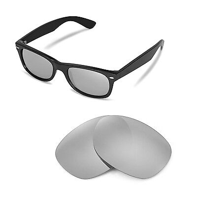 2b3dd3edd31 New Walleva Polarized Titanium Lenses For Ray-Ban Wayfarer RB2132 52mm