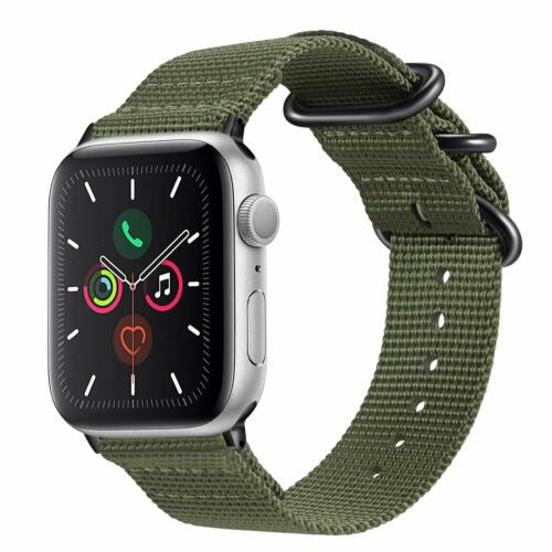 For iWatch Apple Watch Series 5 Series 4 44mm Nylon Woven Ba