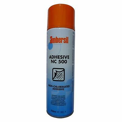 Pack of 12 Ambersil Cloth Repair Adhesive POOL and SNOOKER TABLES 500ml Spray Glue