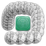 2015 1 oz Silver American Eagle BU (Lot, Roll, Tube of 20) - SKU #86595