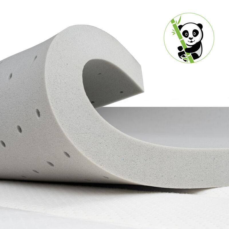 Maxzzz 2 3 Inch Infused Memory Foam Mattress Topper Bamboo Charcoal Mat Pad