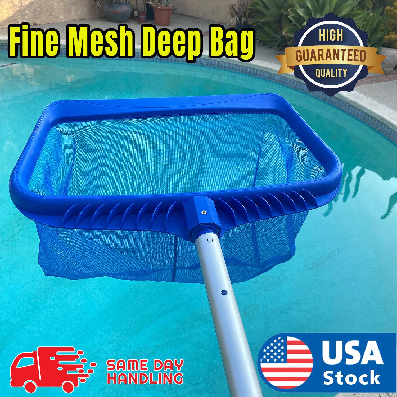 Swimming Pool Leaf Skimmer Rake Net Hot Tub Spa Cleaning Leaves Mesh Tools Clean Handheld Pool Brushes & Nets