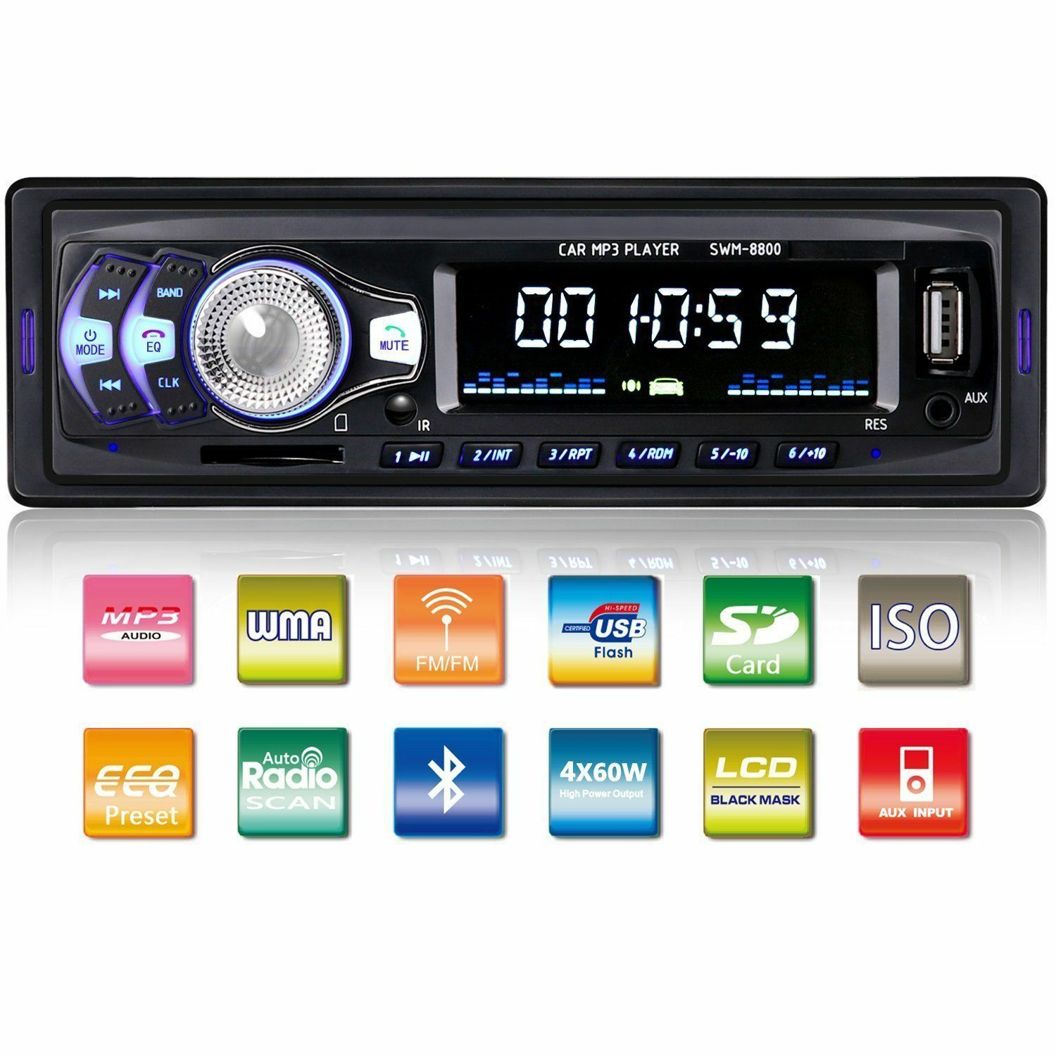 $19.99 - Car Stereo Audio Bluetooth In-Dash FM Aux Input Receiver SD/USB/MP3 Radio Player