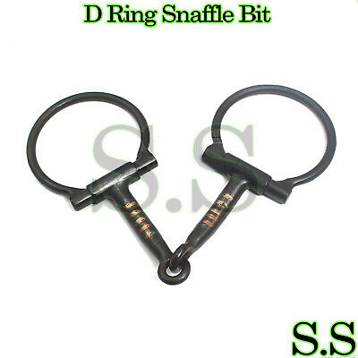 Horse SS D-Ring Snaffle Bit with Copper Rollers and 5.5 Mouth 35547C