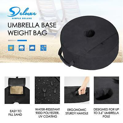 Simple Deluxe Round Patio Sunshade Umbrella Base Weight Bag Sand up to 100 Lbs