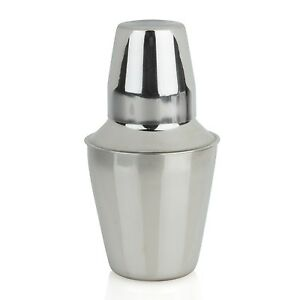 Mini 3 piece Cocktail Shaker - Stainless Steel - 8 oz - Bartender Drink Mixology