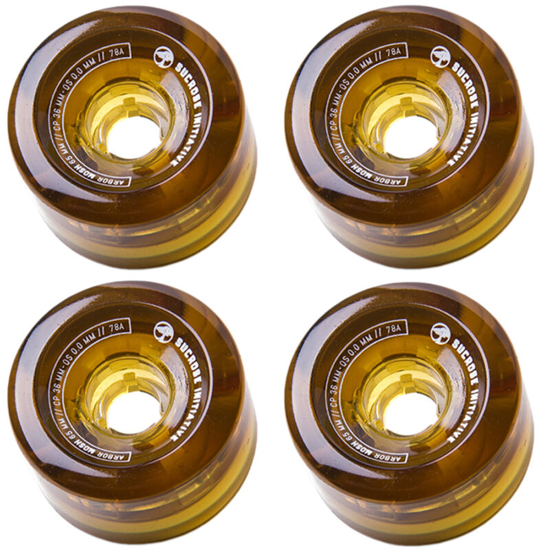 ARBOR Wheels Longboard Skateboard Cruiser Mosh 65mm 78A Amber