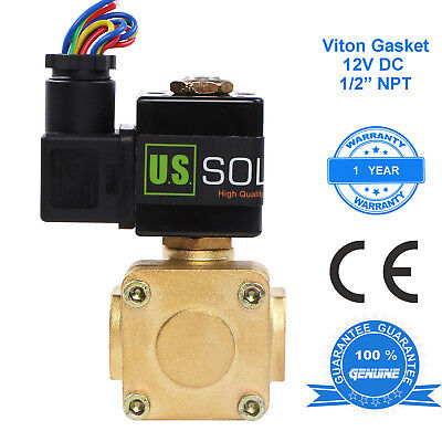 U.s. Solid 12 Brass Electric Solenoid Valve 12v Dc Normally Closed Air Water